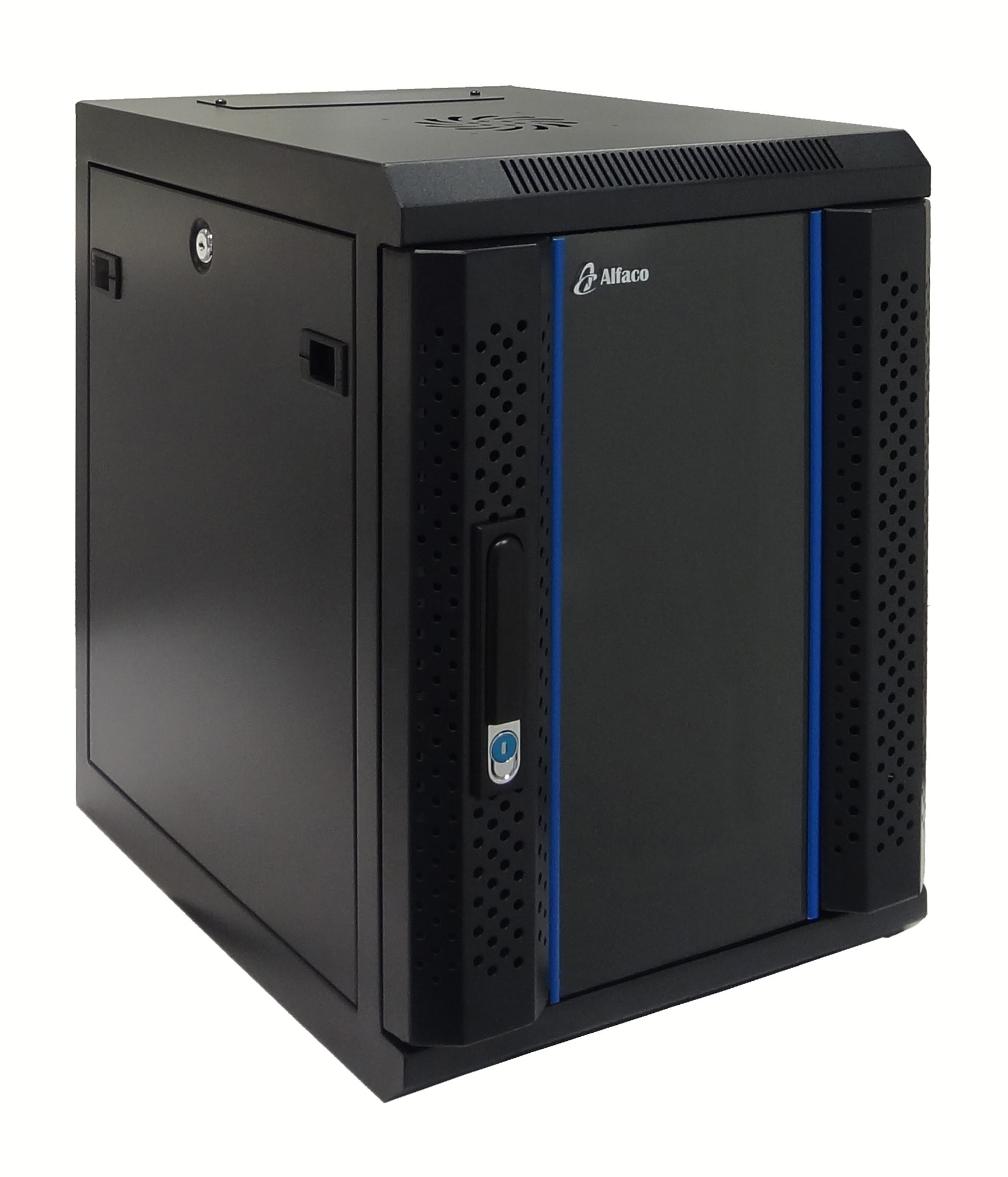 9 HE 10 Zoll Serverschrank - 450mm tief - schwarz - komplett montiert - 1