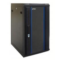 12 HE 10 Zoll Serverschrank - 450mm tief - schwarz - komplett montiert - 1